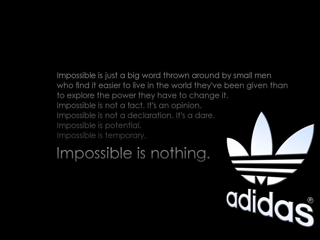 adidas-impossible-quote