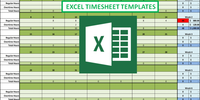 excel timesheet with overtime